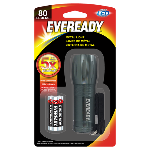 EVEREADY® Compact LED Metal Flashlight​​​​