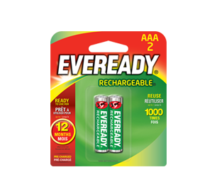 ​​EVEREADY Rechargeable® AAA​​​​​​​​